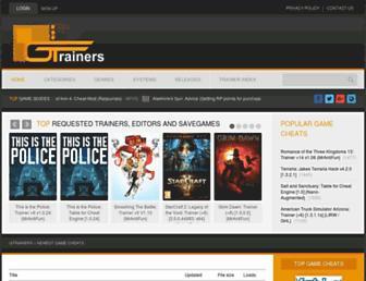 gtrainers.com screenshot