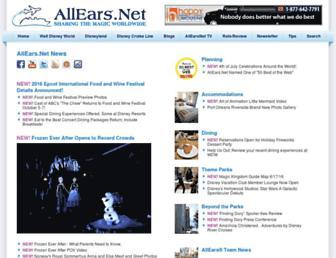 Main page screenshot of allears.net