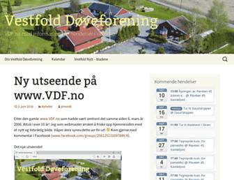 Main page screenshot of vdf.no