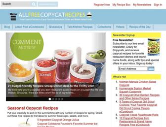 Thumbshot of Allfreecopycatrecipes.com