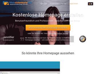 webvisitenkarte.net screenshot