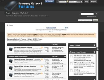 samsunggalaxysforums.com screenshot