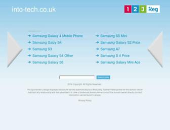 Main page screenshot of into-tech.co.uk