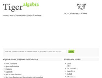tiger-algebra.com screenshot