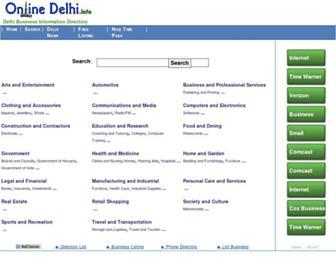Main page screenshot of onlinedelhi.info