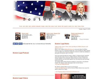 Main page screenshot of boston-legal.org