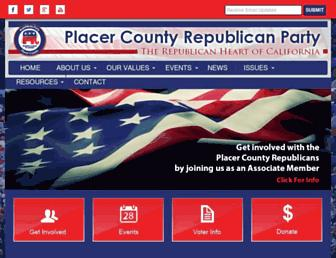 Main page screenshot of placergop.org