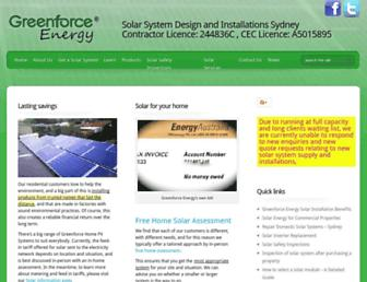 greenforcesolar.com.au screenshot