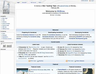 wiibrew.org screenshot