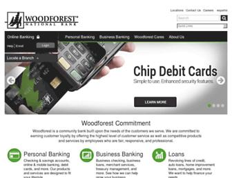 woodforest.com screenshot