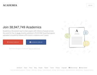 Main page screenshot of academia.edu