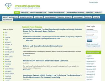 Thumbshot of Pressreleaseping.com