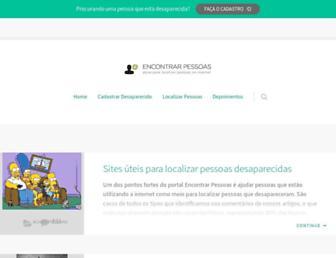 Main page screenshot of encontrarpessoas.net