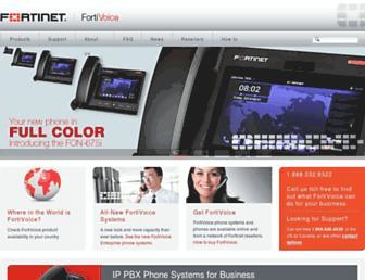 fortivoice.com screenshot