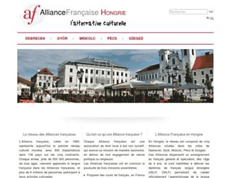 Main page screenshot of af.org.hu