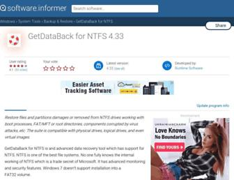 getdataback-for-ntfs.informer.com screenshot