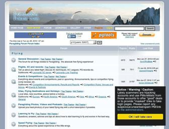paraglidingforum.com screenshot
