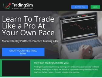 tradingsim.com screenshot