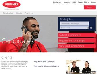 unitemps.com screenshot