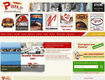 Main page screenshot of pizza.it