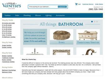 uniquevanities.com screenshot