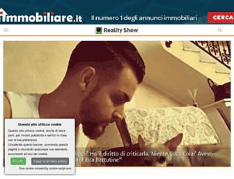 Main page screenshot of realityshow.blogosfere.it