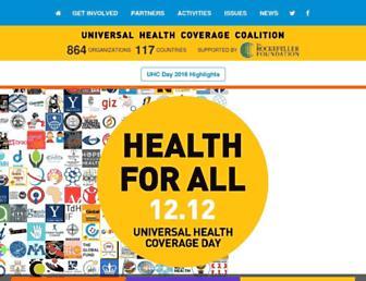 universalhealthcoverageday.org screenshot