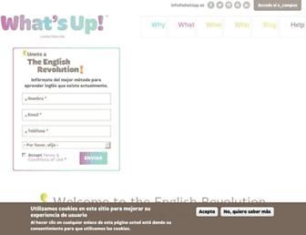 whatsup.es screenshot