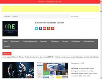 Main page screenshot of onedigital.info