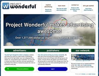 Thumbshot of Projectwonderful.com