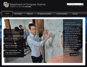 cs.colorado.edu screenshot