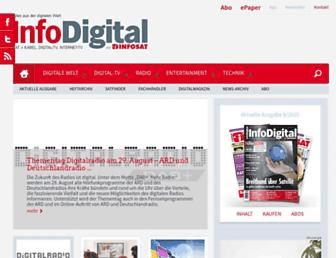 Main page screenshot of infosat.de