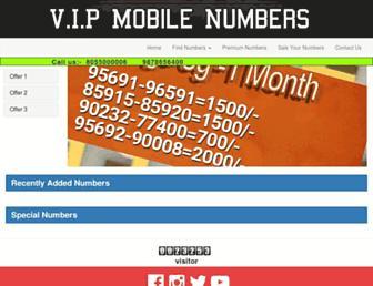 vipmobilenumbers.net screenshot
