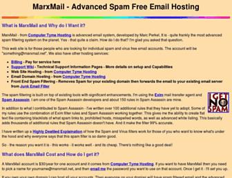 Main page screenshot of marxmail.net