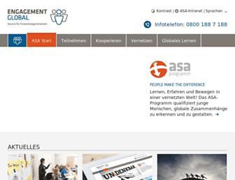 Main page screenshot of asa-programm.de