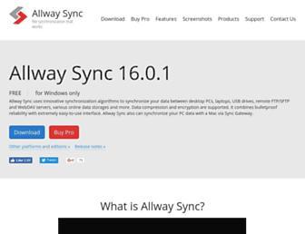 allwaysync.com screenshot