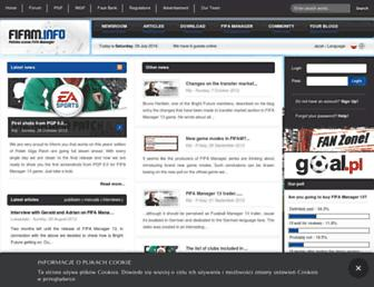 en.fifam.info screenshot
