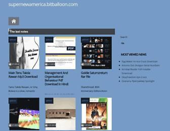 supernewamerica.bitballoon.com screenshot