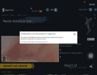 Main page screenshot of digart.pl