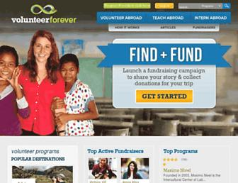 volunteerforever.com screenshot