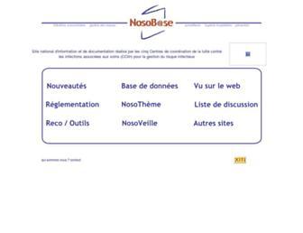 Main page screenshot of nosobase.chu-lyon.fr