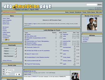 Main page screenshot of aep-emu.de