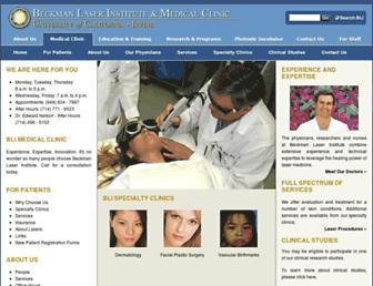 Main page screenshot of medclinic.bli.uci.edu