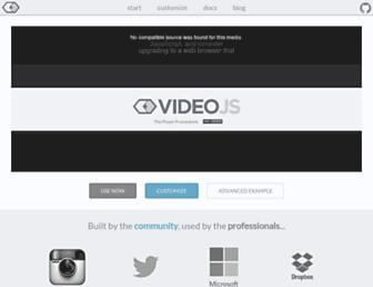 videojs.com screenshot