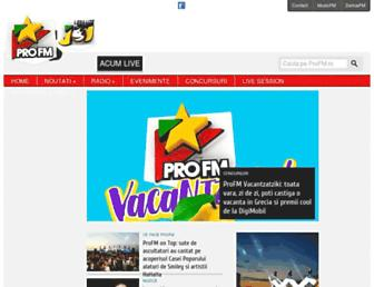 Main page screenshot of profm.ro