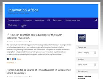Main page screenshot of innovationafrica.org