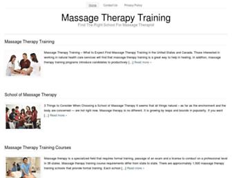 massagetherapytrainingcenter.org screenshot
