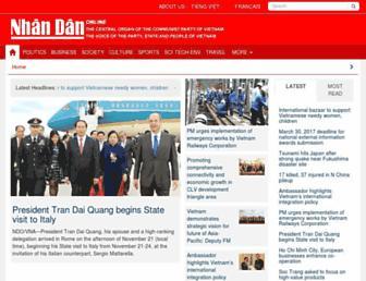 en.nhandan.com.vn screenshot