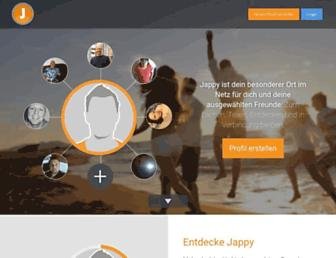 Main page screenshot of jappy.at