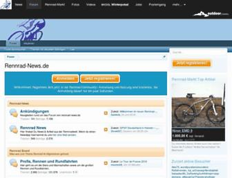 Main page screenshot of rennrad-news.de